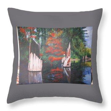 Wolf Lake On Vancouver Island  Throw Pillow