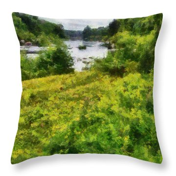 Wolf River Throw Pillow
