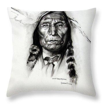 Wolf Robe - Cheyenne Throw Pillow