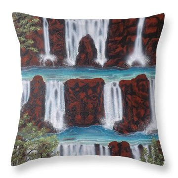 Wolf Spirit Falls Throw Pillow