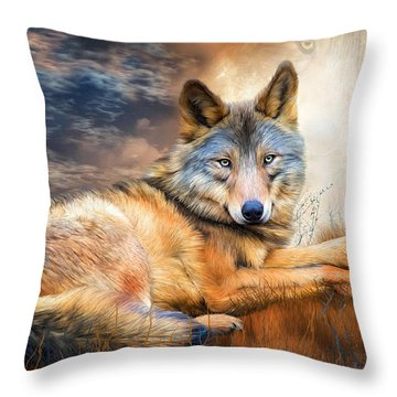 Wolf - Spirit Of Truth Throw Pillow