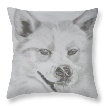 Wolf The Husky Throw Pillow