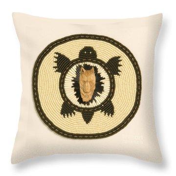 Wolf Turtle Throw Pillow