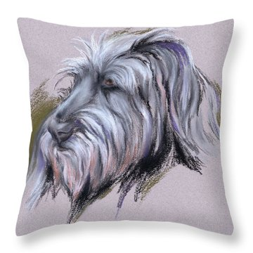 Wolfhound Portrait Throw Pillow by MM Anderson