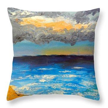 Wollongong Beach Throw Pillow