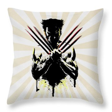 Wolverine Throw Pillow by Mark Ashkenazi