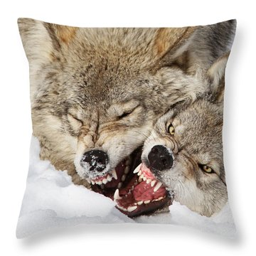 Wolves Rules Throw Pillow