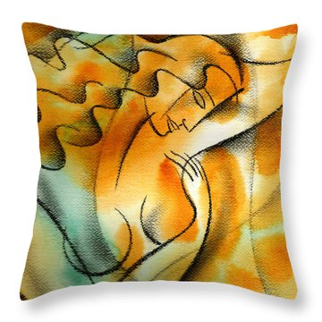 Woman Health Throw Pillow