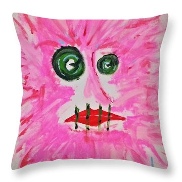 Woman In Abstract Simplicity Throw Pillow