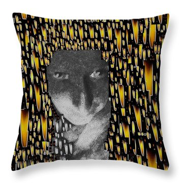 Woman In Flames Throw Pillow by Pepita Selles