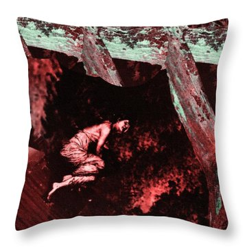 Woman Lost 2 Throw Pillow