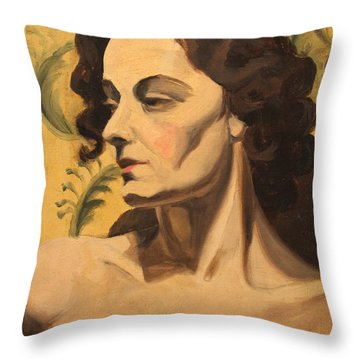 Woman Of 1938 Throw Pillow