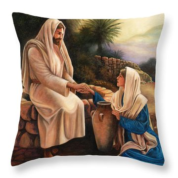 Woman Of The Well Throw Pillow