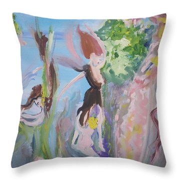 Woman The Nurturer Throw Pillow