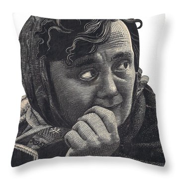 Woman Throw Pillow