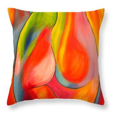 Woman Throw Pillow by Veikko Suikkanen