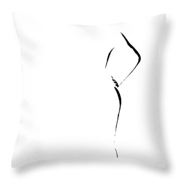 Woman With Hand On Hip Throw Pillow