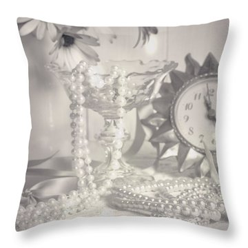 Womans Dressing Table Throw Pillow by Amanda Elwell