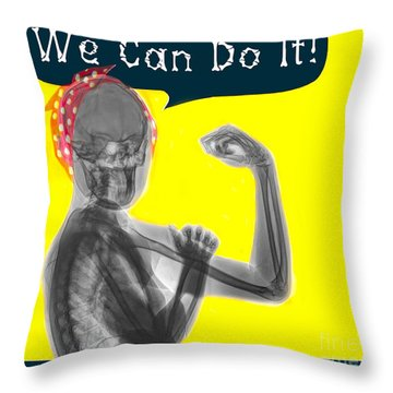 Womans Power 2 Throw Pillow