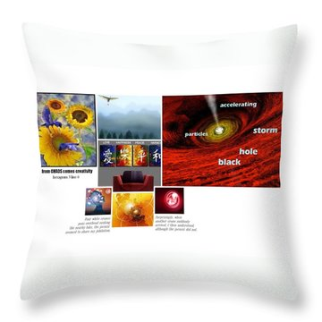 Womb With A View Throw Pillow