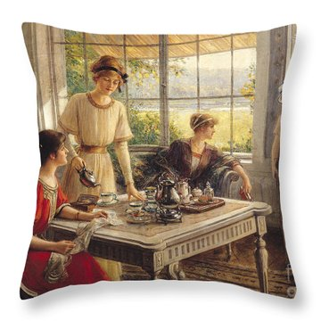 Victorian Garden Throw Pillows