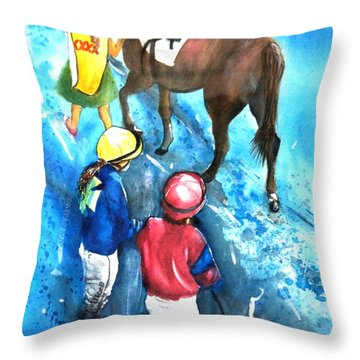Giddy Up Girls Throw Pillow