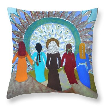 Women's Circle Mandala Throw Pillow