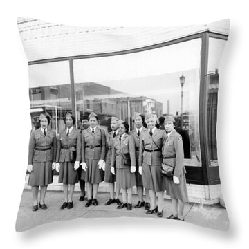 Womens Defense Corp Of America Throw Pillow