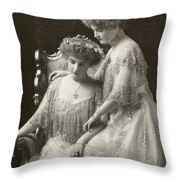 Women's Fashion, C1900 Throw Pillow