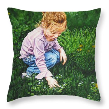 Wonder In A Wildflower Throw Pillow