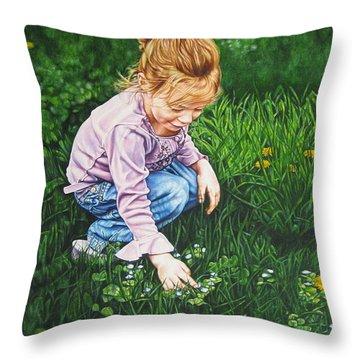 Wonder In A Wildflower Throw Pillow