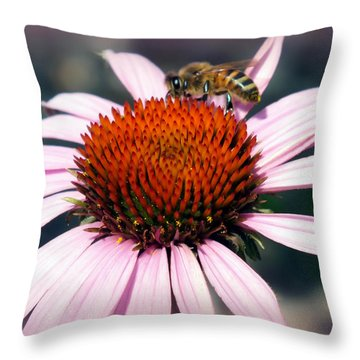 Wonder Of Pollen Throw Pillow by Karen Wiles