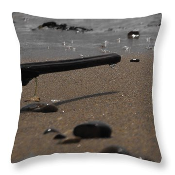 Wonder On This Beach Throw Pillow