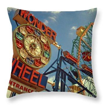 Wonder Wheel - Coney Island Throw Pillow