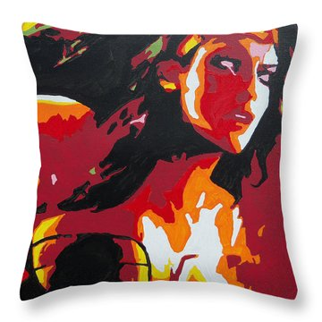 Wonder Woman - Sister Inspired Throw Pillow by Kelly Hartman
