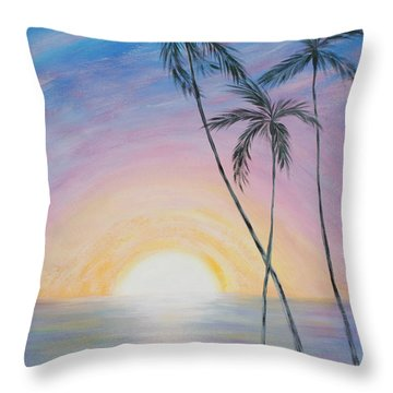 Wonderful Sunrise In Paradise Throw Pillow