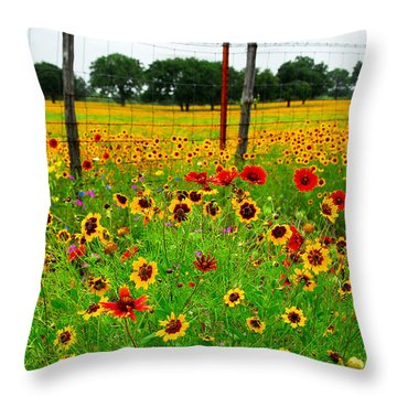 Wonderful Wildflowers Throw Pillow