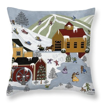 Wonderful Winter Throw Pillow by Medana Gabbard