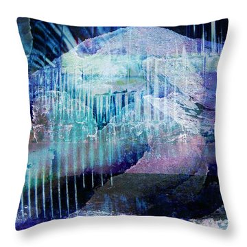 Wonderfully Cold Throw Pillow by Shirley Sirois