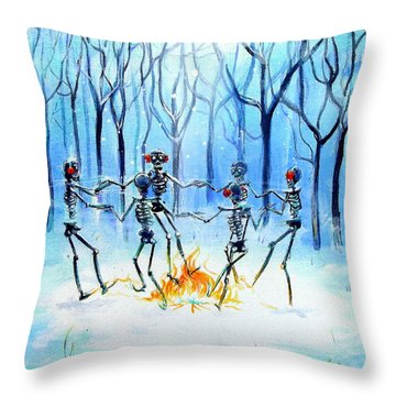 Wonderland Ring Throw Pillow by Heather Calderon