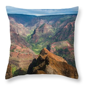 Wonders Of Waimea Throw Pillow
