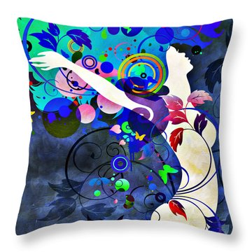 Wondrous Night Throw Pillow by Angelina Vick