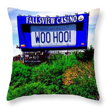 Woo Hoo Throw Pillow by Nina Silver