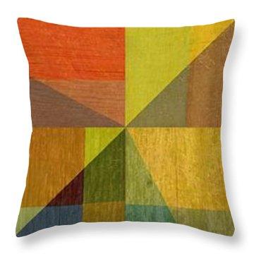 Wood And Angles Throw Pillow