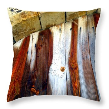 Wood And Stone Throw Pillow by Lauren Leigh Hunter Fine Art Photography