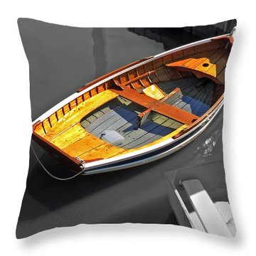 Wood And Water Throw Pillow