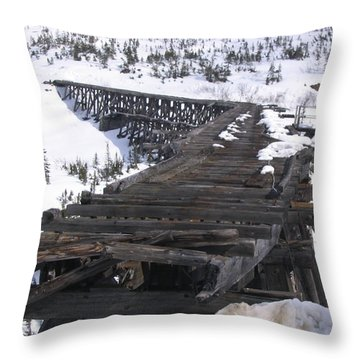 Wood Bridge Throw Pillow by Brian Williamson