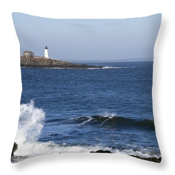 Wood Island Light Throw Pillow