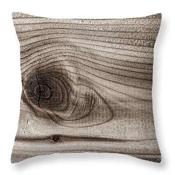 Wood Knot Abstract Throw Pillow