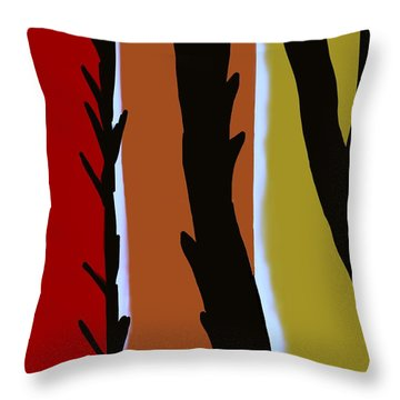 Throw Pillow featuring the digital art Wood L by Christine Fournier